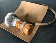 NSC Leather Shaving Brush Travel Cover