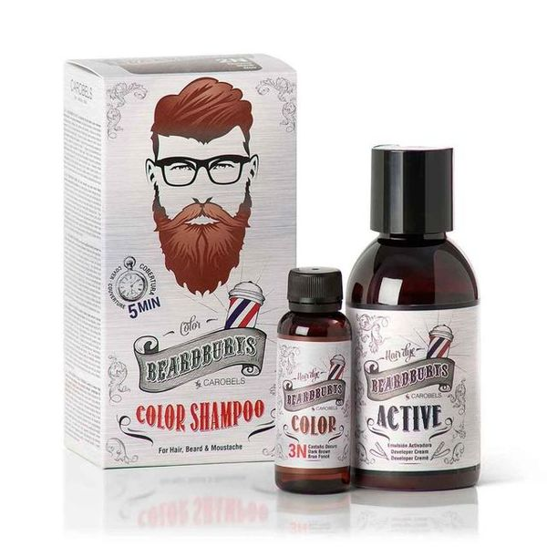 Beardburys Beard and Hair Color Shampoo Dark Brown