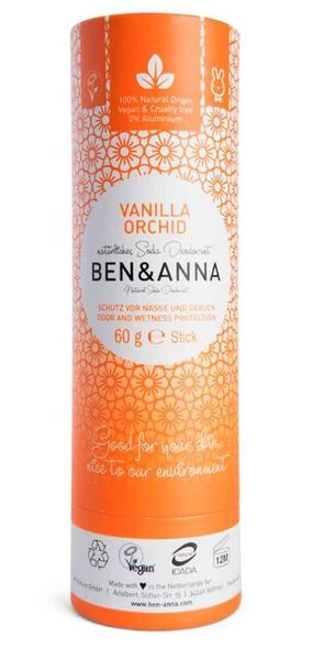 Ben and Anna Deodorant Vanilla Orchid in paper tube 60 g