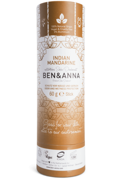 Ben and Anna Deodorant Indian Mandarine in paper tube 60 g