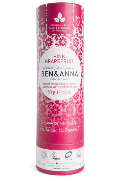 Ben and Anna Deodorant Pink Grapefruit in paper tube 60 g