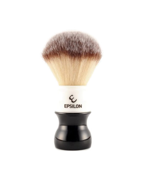Epsilon Silver Tip Fibre Shaving Brush Black & White 54/26mm