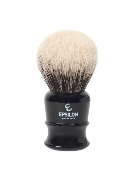 Epsilon Two Band Badger Shaving Brush Black 50/26mm