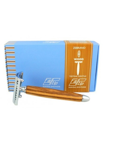 Fatip Zebrano Wood DE Safety Razor Closed Comb