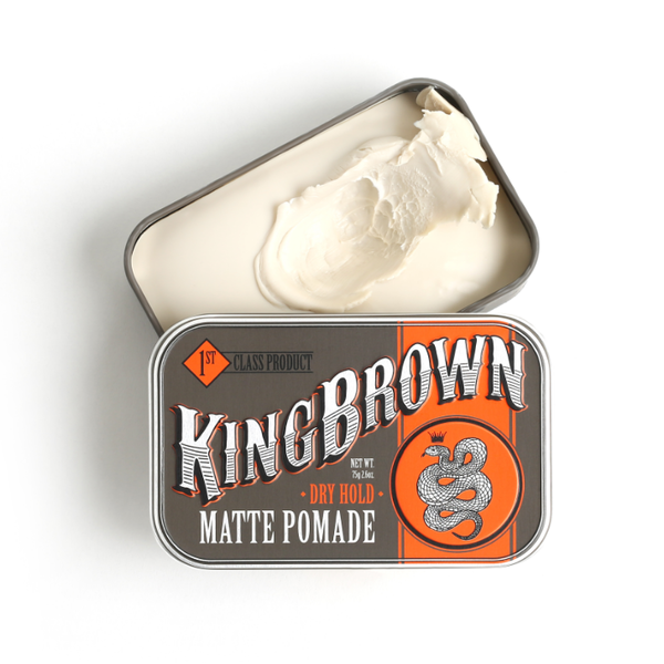 King Brown Matte Pomade Dry Hold 75g