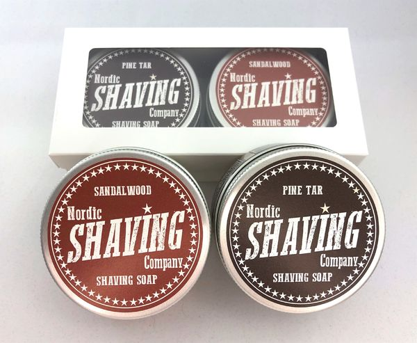 NSC Shaving Soap 80 g twin pack Woody