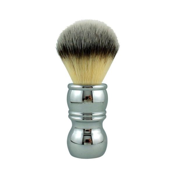 RazoRock Chrome Silvertip Plissoft Synthetic Shaving Brush 24 mm